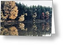 Fall Mirrors 2 Greeting Card