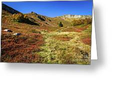 Fall On The Mountains Greeting Card