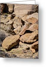 Fallen Sandstone Boulders Greeting Card