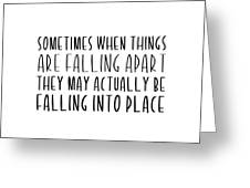 Falling Quote Greeting Card