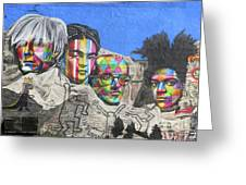 Famous Contemporary Artists Mural Greeting Card