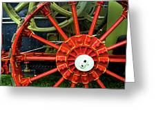 Fancy Tractor Wheel Greeting Card