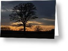 Farm Country Sunset Greeting Card