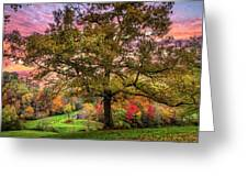 Farm In The Blue Ridge Smoky Mountains Greeting Card