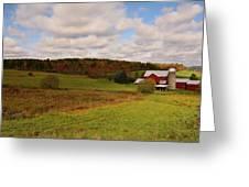 Farmland In Autumn Greeting Card
