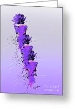 Fashion Models Looking Chic In Violet With A Touch Of Pink Greeting Card