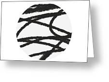 Fastball 2- Modern Art By Linda Woods Greeting Card