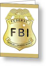 Fbi Badge Greeting Card