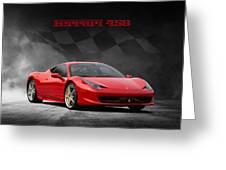 Ferrari 458 Greeting Card