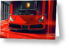 Ferrari Red Greeting Card