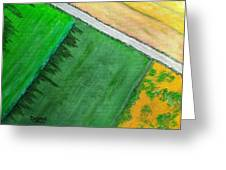 Fields Of Green Greeting Card