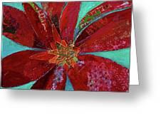 Fiery Bromeliad I Greeting Card