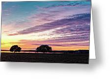 Fiery Sunset Over Canyon Lake - Comal County - Central Texas Hill Country Greeting Card