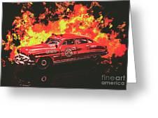 Fire Hornet Greeting Card