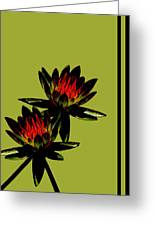 Fire Lilies Greeting Card