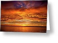 Fire Over Lake Eustis Greeting Card