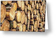 Firewood  Greeting Card by Nick Bywater