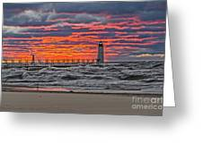 First Day Of Fall Sunset Greeting Card