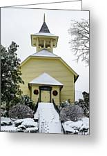 First Presbyterian Church In The Snow Greeting Card