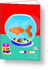 Fish Tank With Fish And Complete Kit Greeting Card