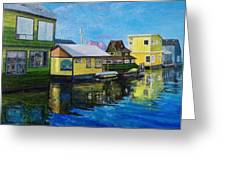 Fisherman's Wharf In Victoria Greeting Card