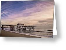 Fishing Pier Sunrise Greeting Card