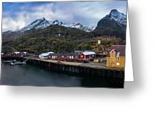 Fishing Village A On Lofoten Greeting Card