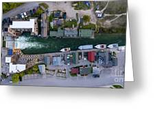 Fishtown Dam Panorama From Above Greeting Card