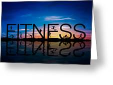 Fitness Concept Greeting Card