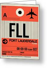 Fll Fort Lauderdale Luggage Tag I Greeting Card