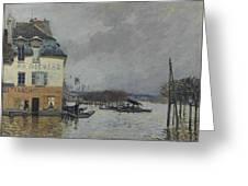 Flood At Port-marly, 1876 04 Greeting Card