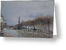 Flood At Port-marly, 1878 Greeting Card