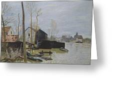 Flooding At Moret, 1889 Greeting Card