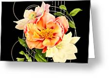 Floral Abstraction Greeting Card by Bee-Bee Deigner