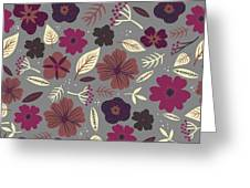 Floral Seamless Pattern. Colored Greeting Card