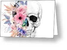 Floral Skull 2 Greeting Card