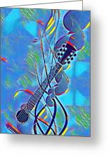 Flow Of Music Greeting Card