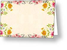 Flower Print Greeting Card