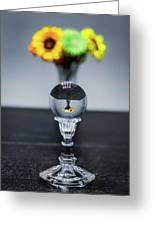 Flowers And Crystal Ball Greeting Card