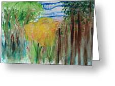 Flowers In A Forest Greeting Card