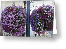 Flowers In Balance Greeting Card by Mae Wertz