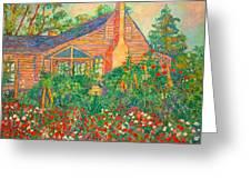 Flowery Backyard Greeting Card