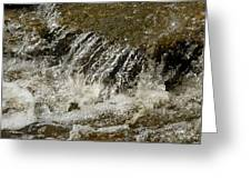 Flowing Water Over Rocks Greeting Card