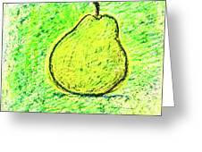 Fluorescent Pear Greeting Card
