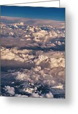 Flying Over The Rocky Mountains Greeting Card