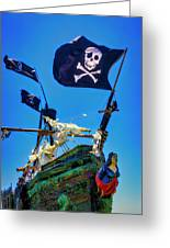 Flying The Pirates Colors Greeting Card