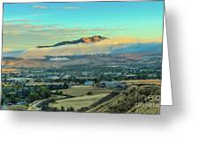 Fog Over Squaw Butte Greeting Card