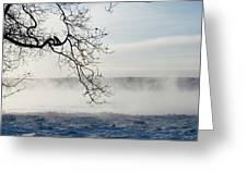 Fog Over The River Greeting Card