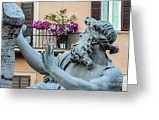 Fontana Dei Quattro Fiumi Greeting Card
