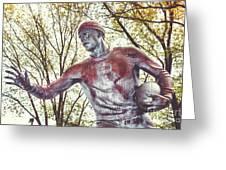 Football Statue - Rutgers University Greeting Card